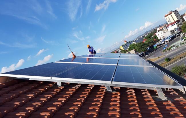 điện mặt trời cho hộ gia đình hòa lưới