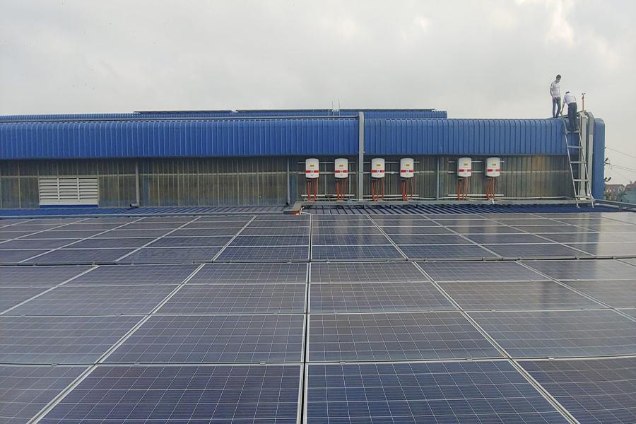 hệ thống điện mặt trời cho sản xuất công nghiệp